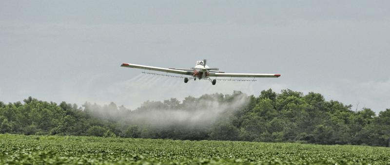 aerial chemical crop spraying